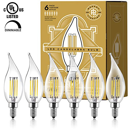 Cleveland Vintage Lighting Edison Flame Candelabra Bulbs: LED Candelabra Light Bulbs